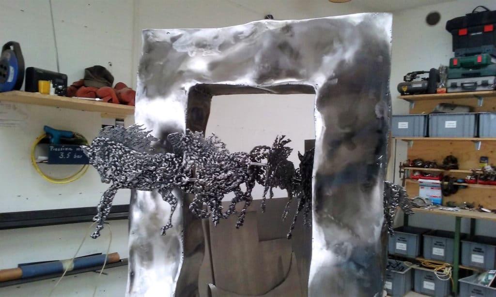 Sculpture Valais - 3e Âge de Fer - Catégorie : Fer - Titre : Chevaux - Image à la Une